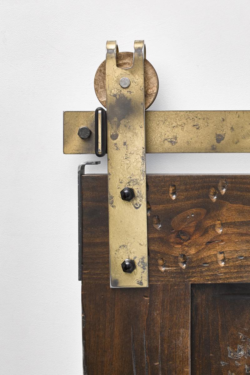 Garrick Industrial Sliding Door Hardware Kit Rustica