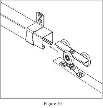 Box Track Hanger install Figure 10