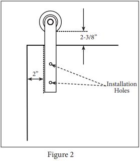 Reflex hanger install step 2