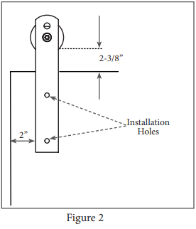 Ultra Modern hanger install step 2