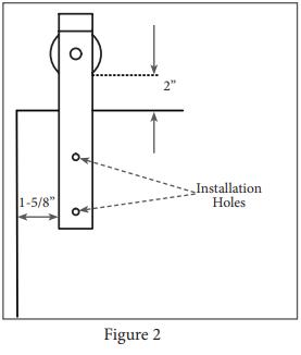 Mini Industrial hanger install step 2