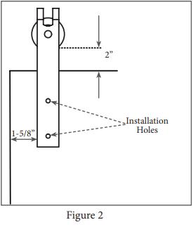 Mini Garrick hanger install step 2