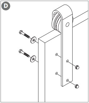 Classic Barn Door Hanger assembly Fig 6