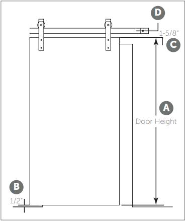 Classic Barn Door hanger install Fig 1