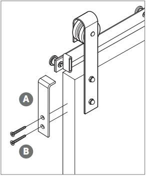 Classic Barn Door Hanger install Fig 10