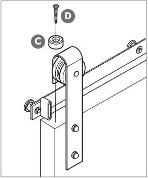 Classic Barn Door Hanger install Fig 11