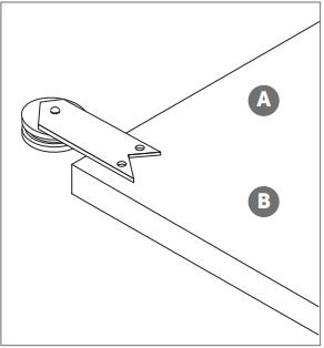 Ribbon hanger install Fig 1