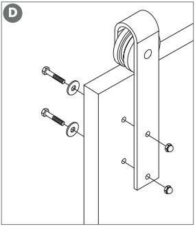 Outdoor Rated Barn Door Hanger assembly Fig 6