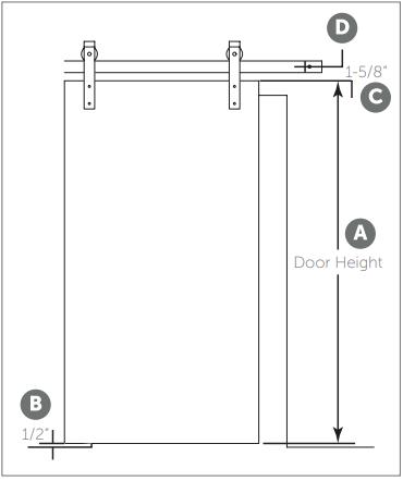 Outdoor Rated Barn Door hanger install Fig 1
