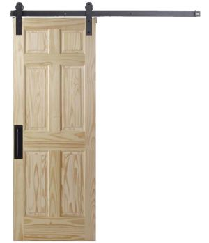 6 Panel Colonial Barn Door