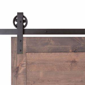 Vintage Strap Barn Door Hardware - Big Wheel