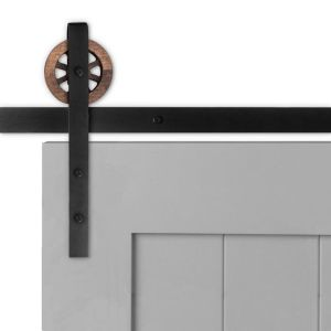 Artisan Strap Barn Door Hardware - Big Wheel