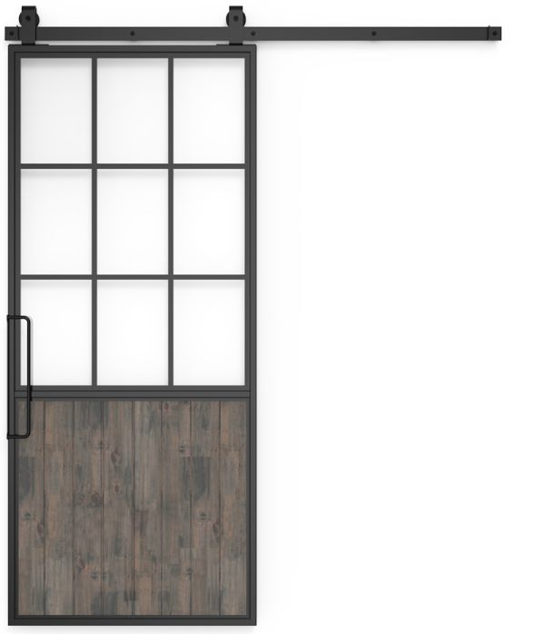 Mountain French Half Barn Door
