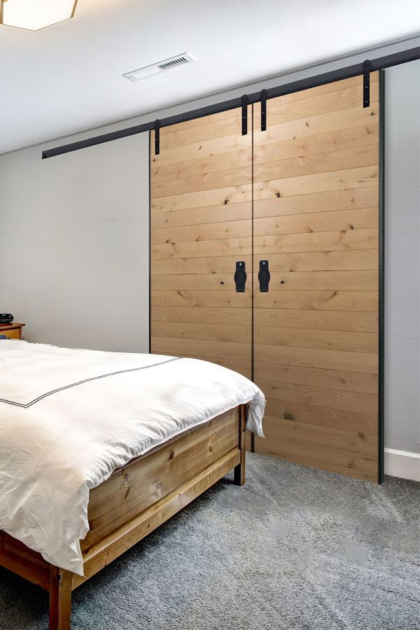 Low Clearance Barn Door Hardware For Double Doors