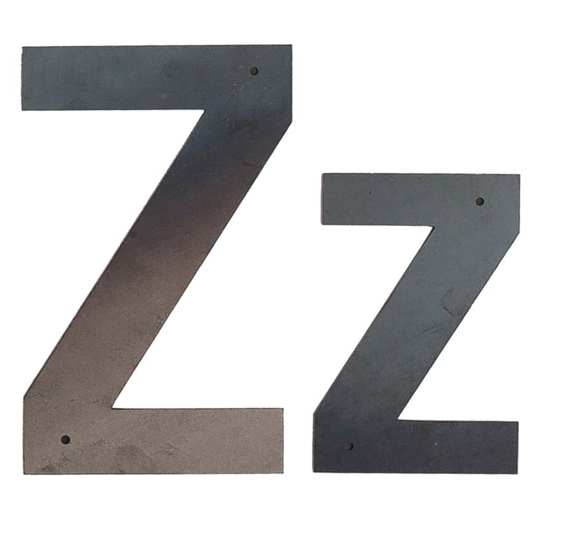 Large Metal Letter Z Z Large Metal Wall & Outdoor Letter  Rustica Hardware