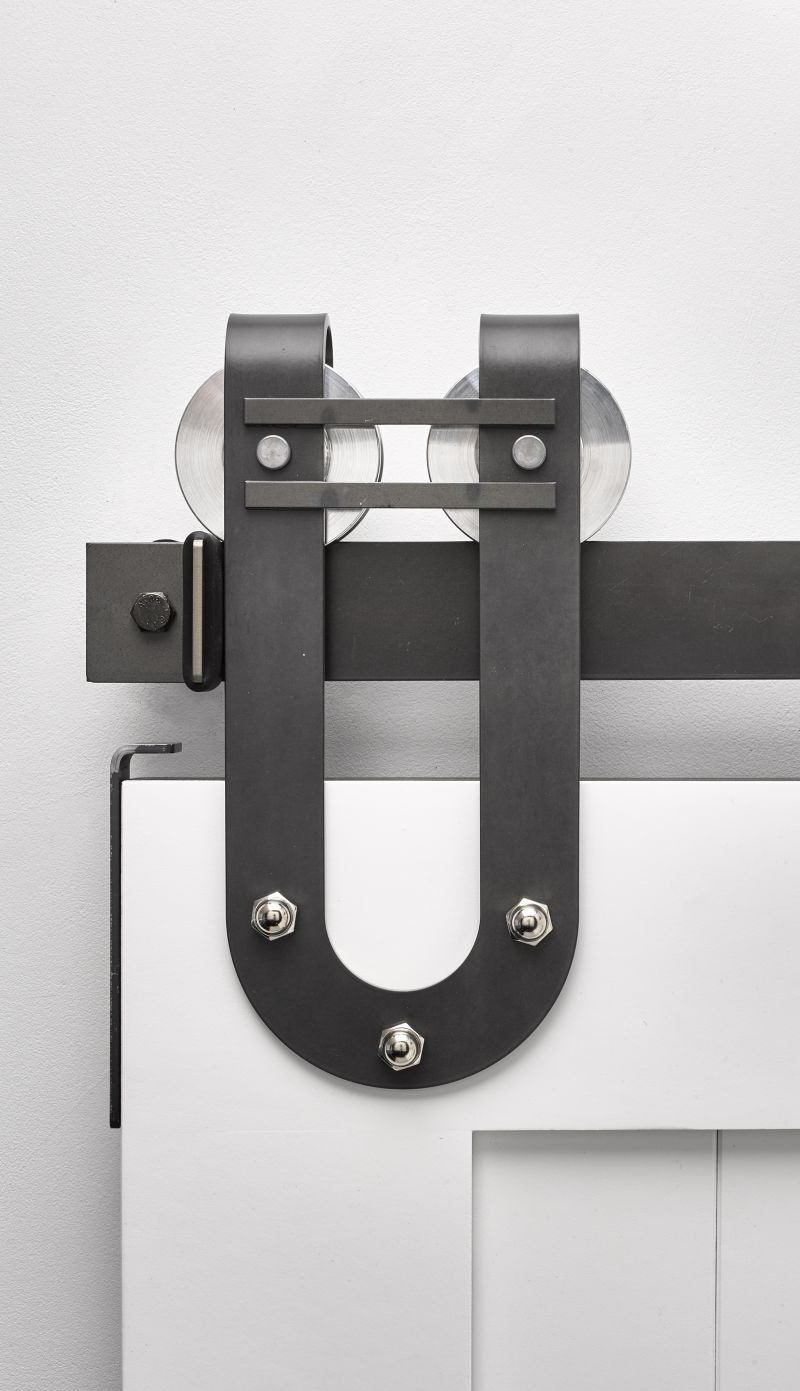 Draft Horseshoe Barn Door Hardware Kit Rustica Hardware