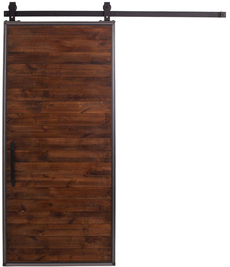 Alder Wood Modern Barn Door Interior Sliding
