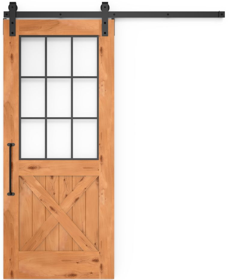Farmhouse French Half X Barn Door