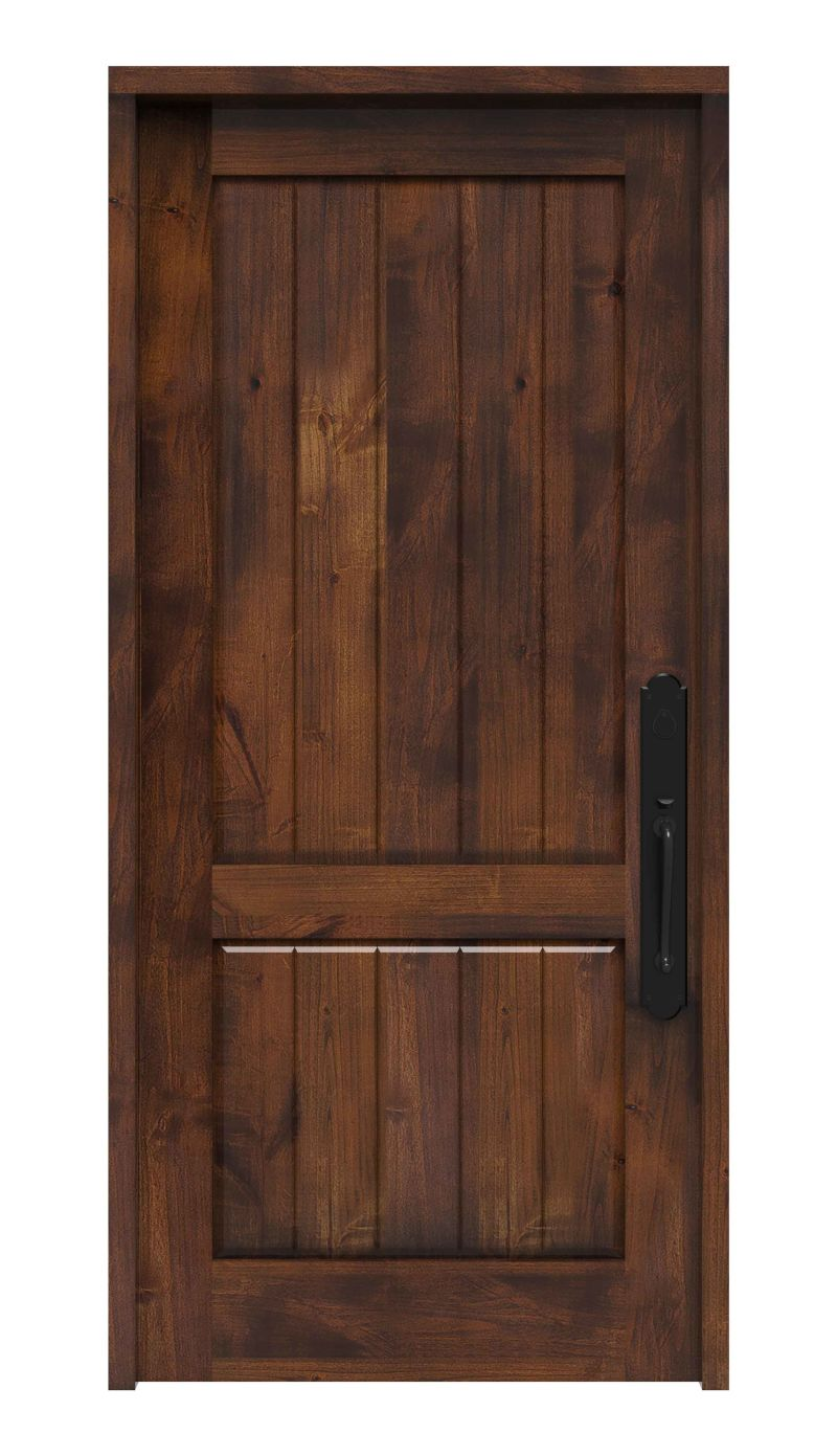 Rustic Solid Wood Front Entry & Exterior Door | Rustica Hardware on