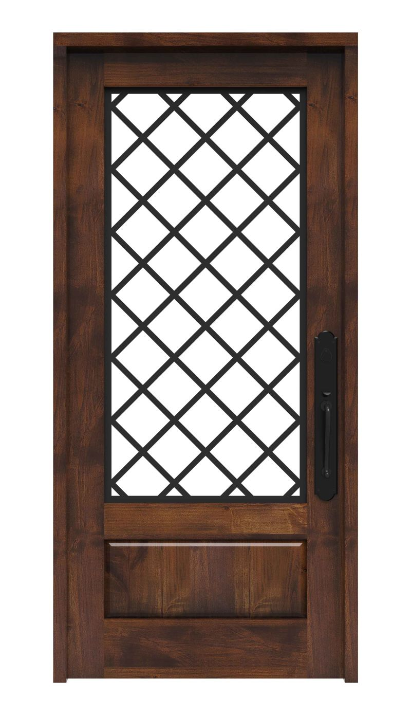Diamond Wrought Iron Entry Door Rustica Hardware