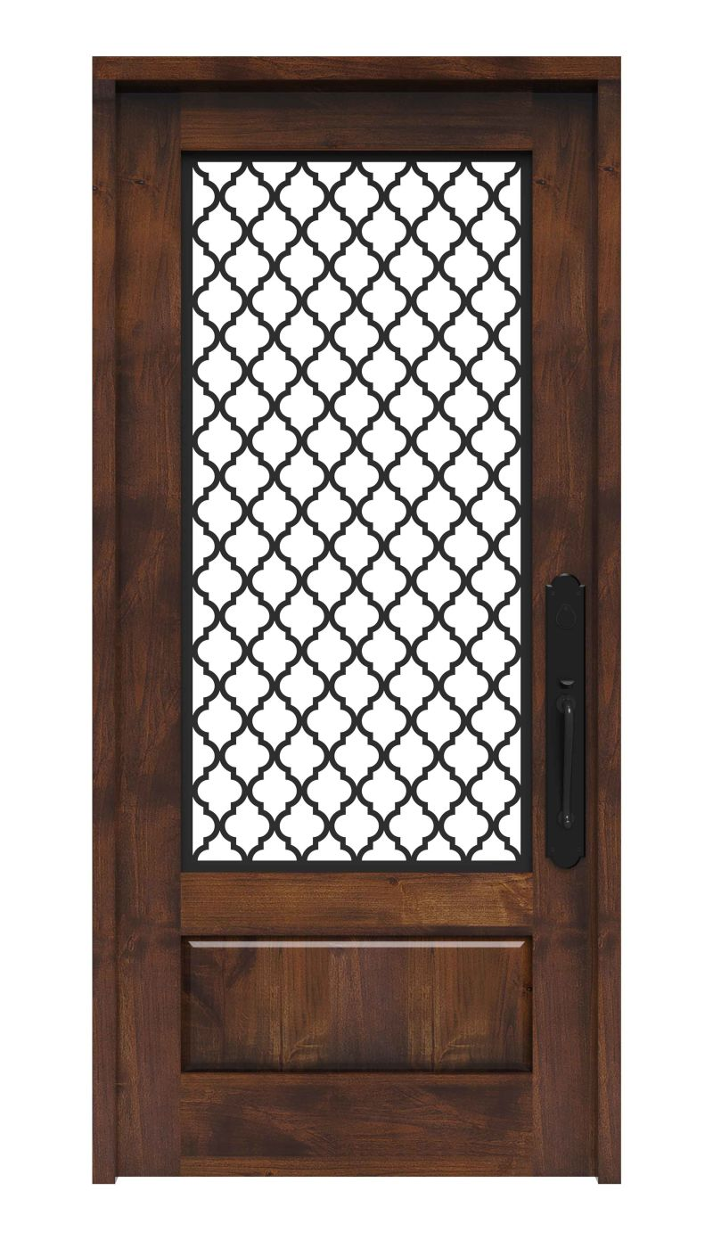 Metal Trellis Design Front Entry Door Rustica Hardware