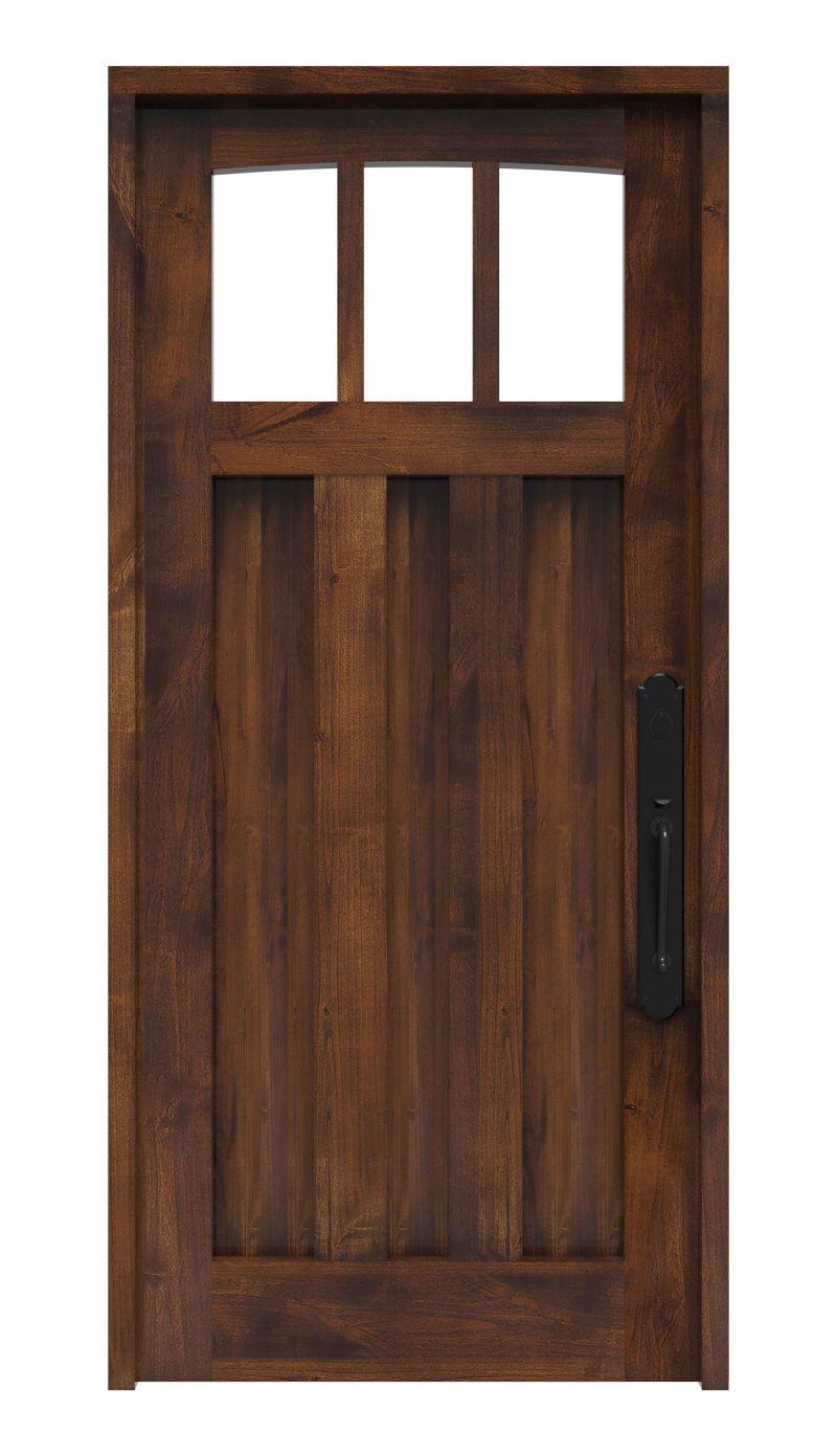 3 Panel Exterior Door With Arched Windows Rustica Hardware