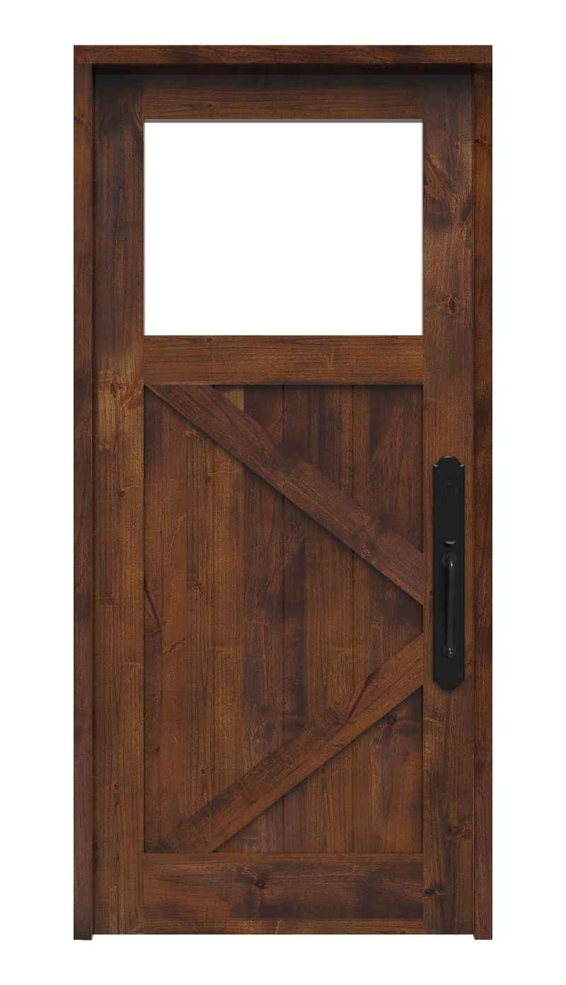 K Bar Ranch Style Front Entry Door With Window Rustica