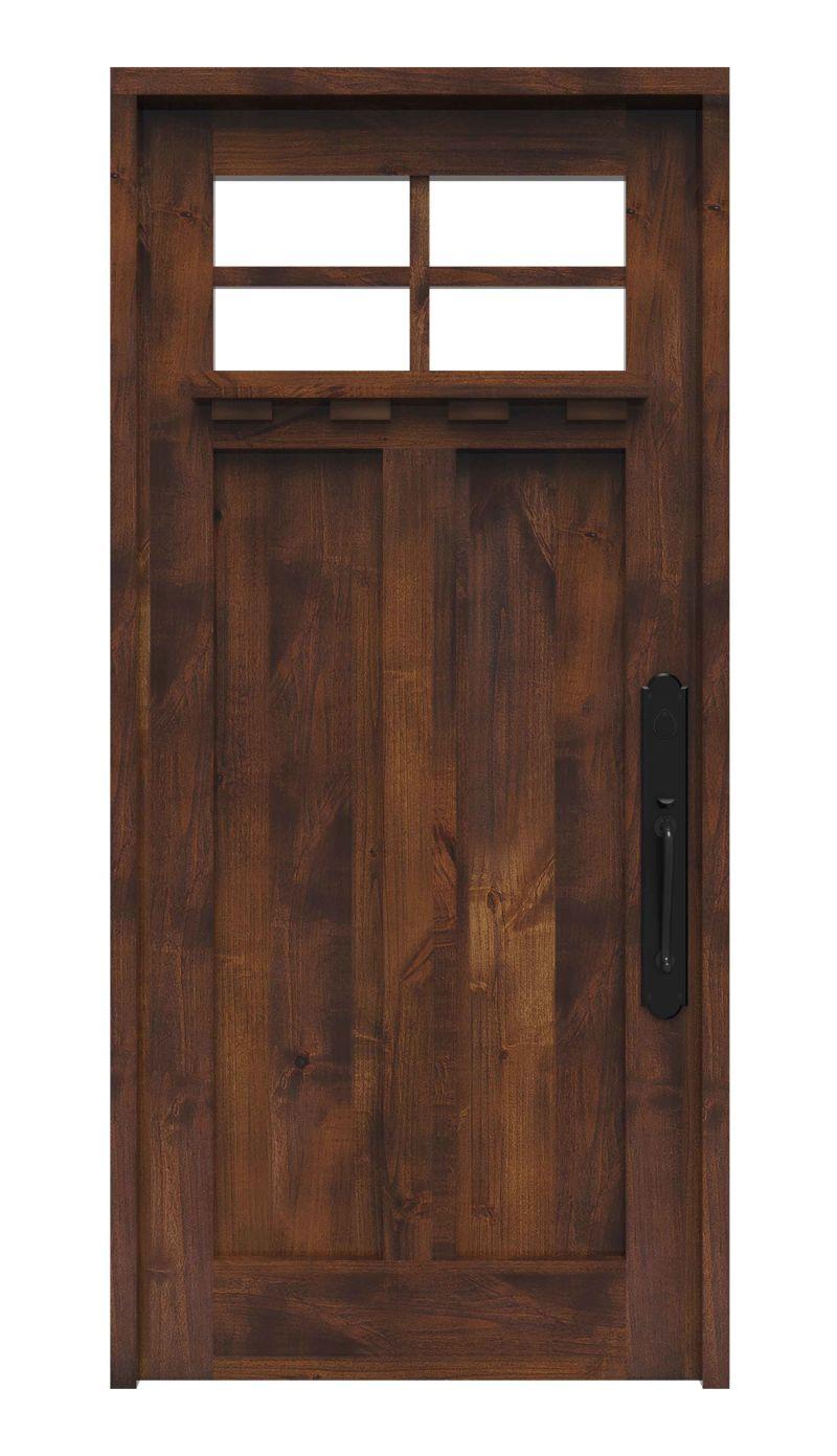 Left Fork Front Door With Shelf