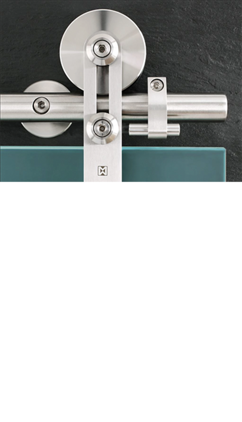 Protec Stainless Steel Barn Door Hardware