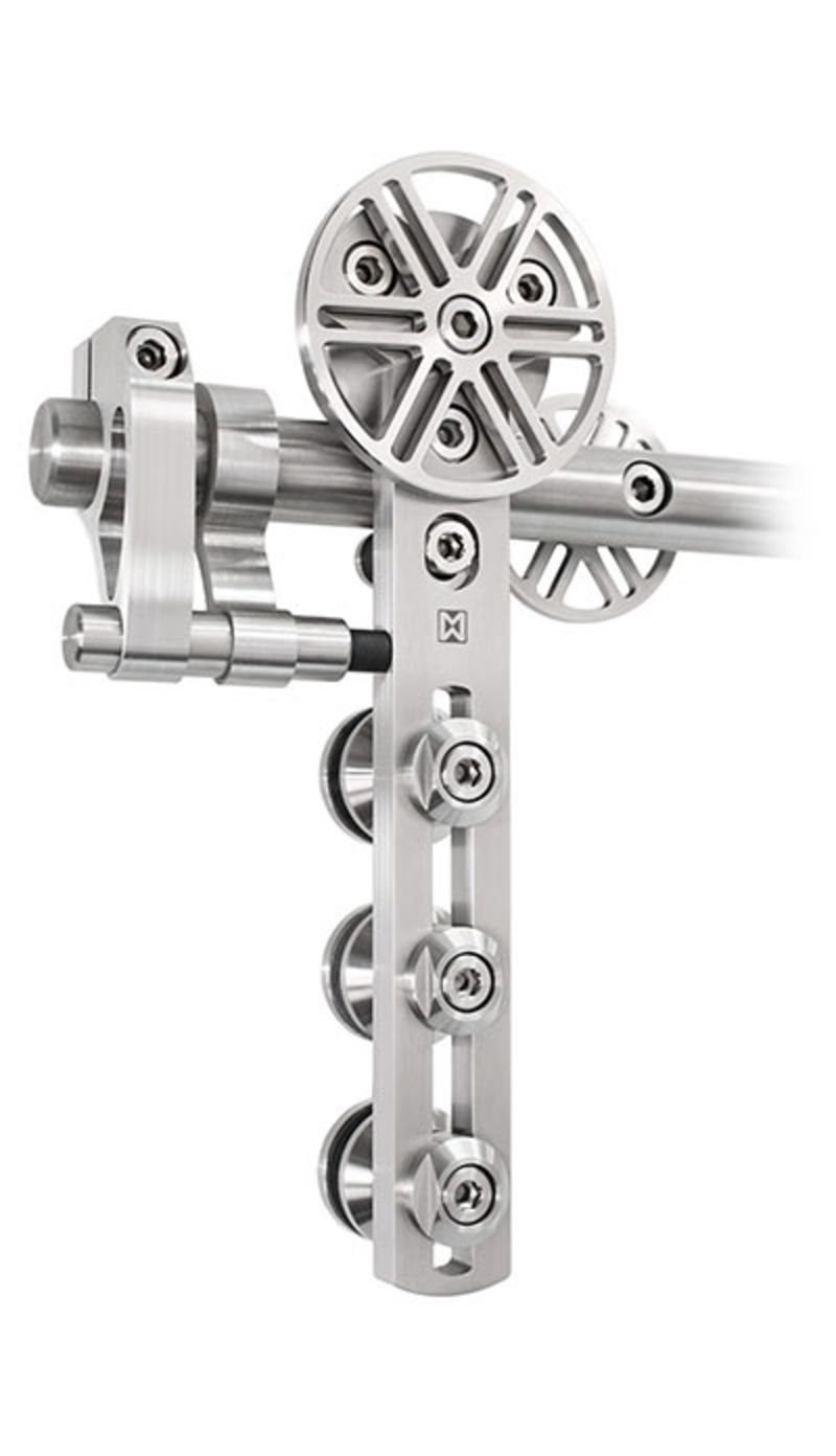 Steel Spoke Wheel Barn Door Hardware Kit