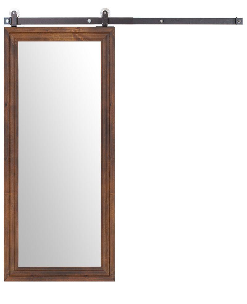 Wooden Mirror Barn Door