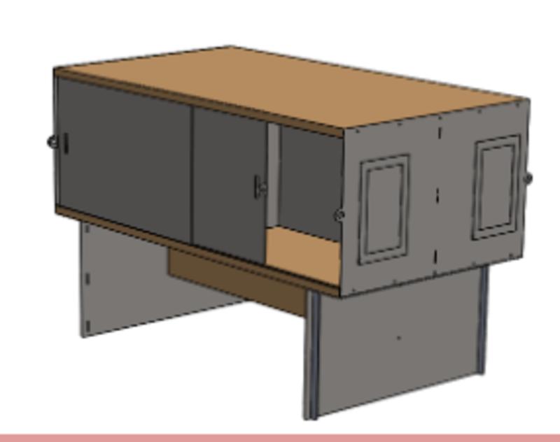 Kiln resident storage box