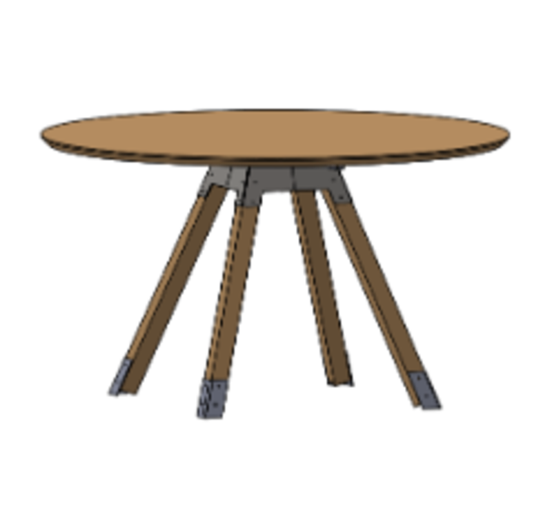 Kiln Meeting Room Table: Round
