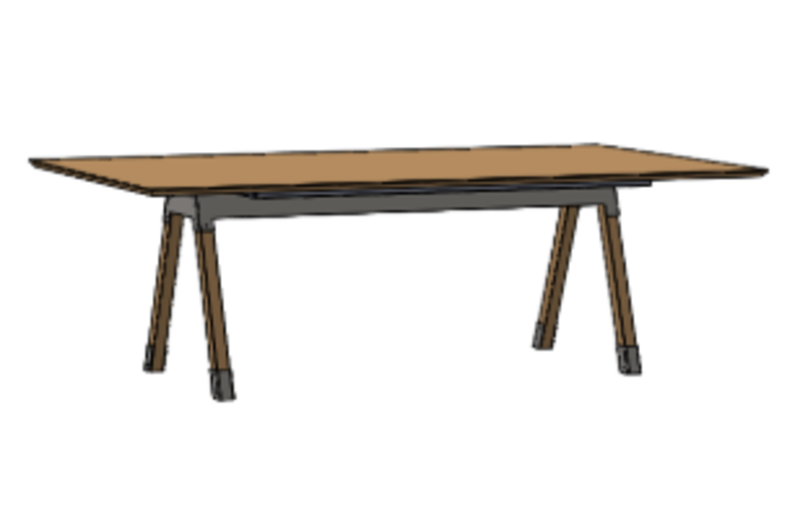 Kiln Meeting Room Table: Rectangle