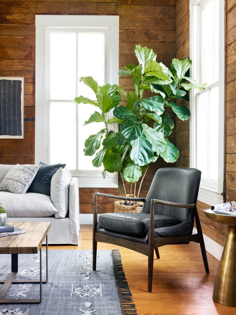 Braden Black Leather Chair