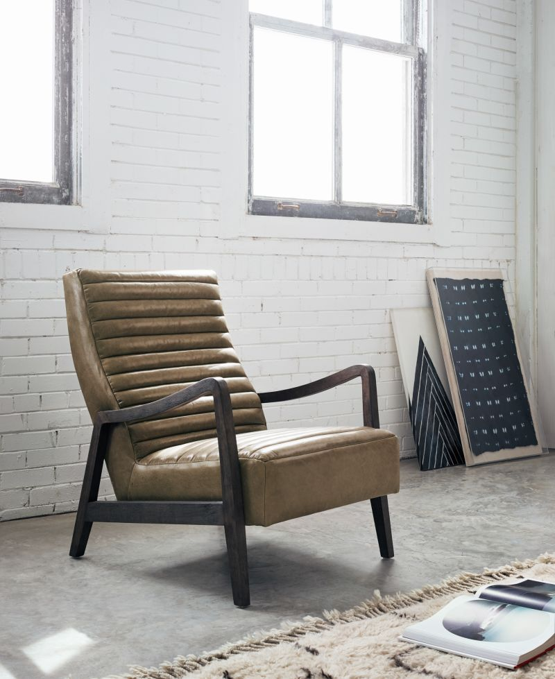 Chance Pleated Leather Chair