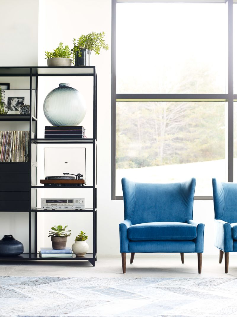 Marlow Blue Wing Chair