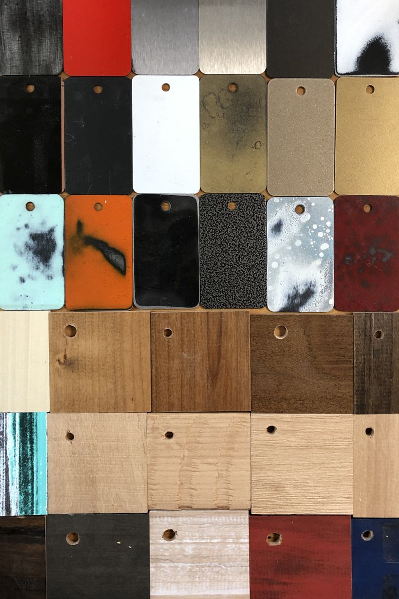 Barn Door Finishes And Cabinet Samples Rustica