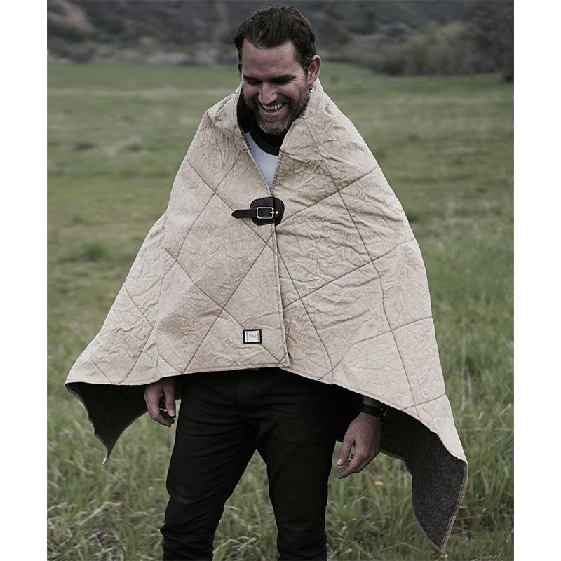 Tibble Fork Hooded Cloth Poncho