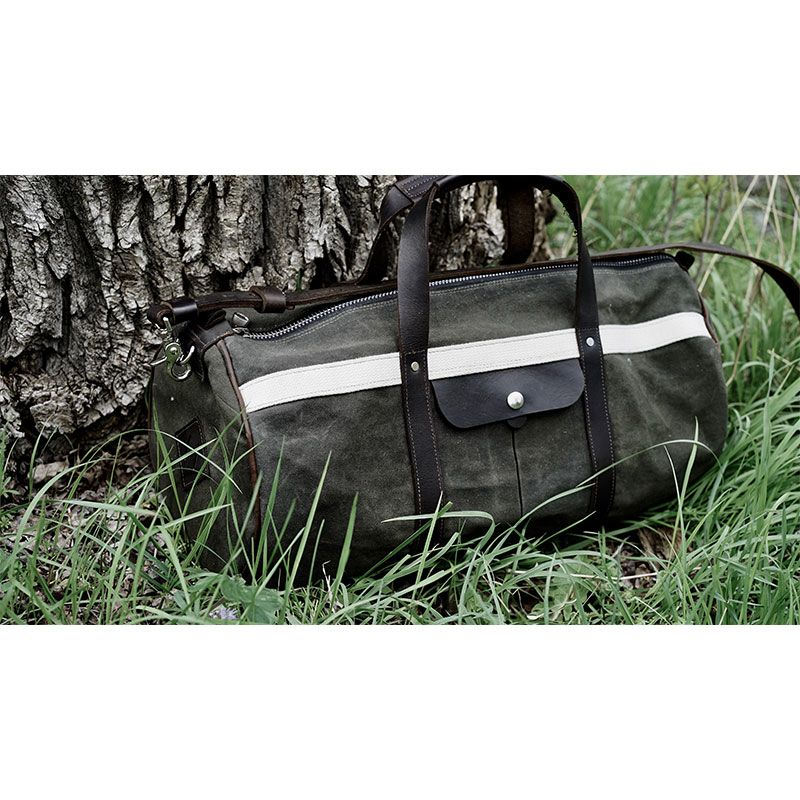 Outdoor Duffel Bag with White Stripe