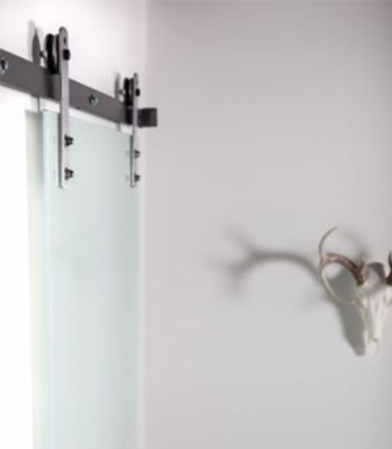 Frosted Glass Barn Door