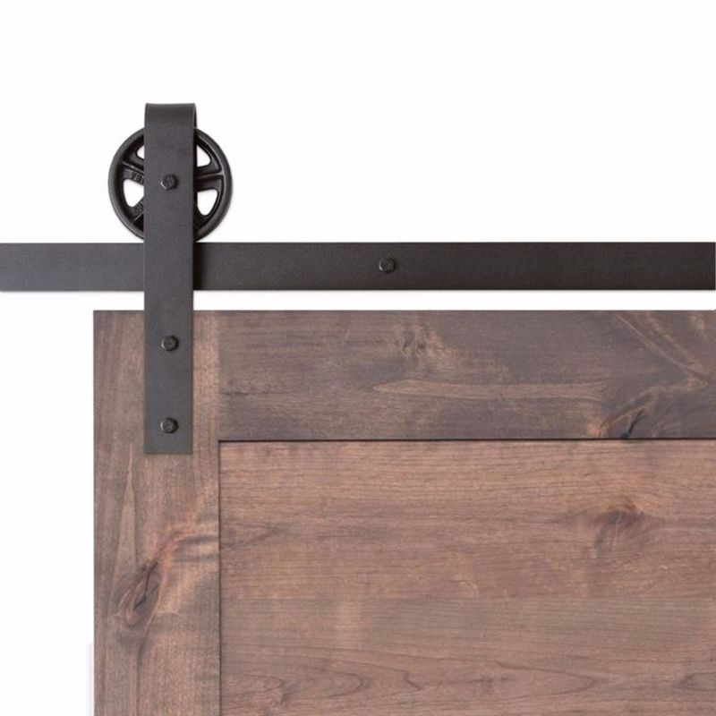 Vintage Strap Barn Door Hardware - Big Wheel