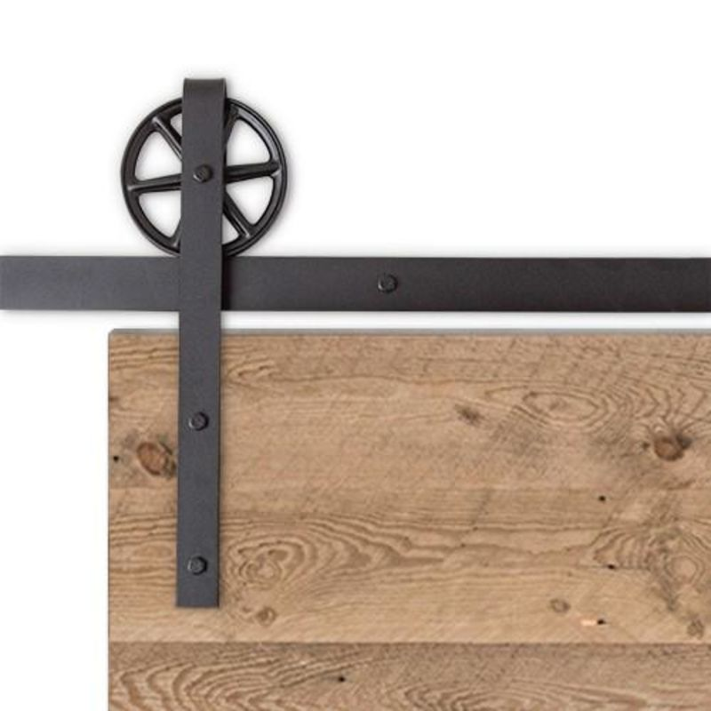 Traditional Barn Door Hardware - Big Wheel