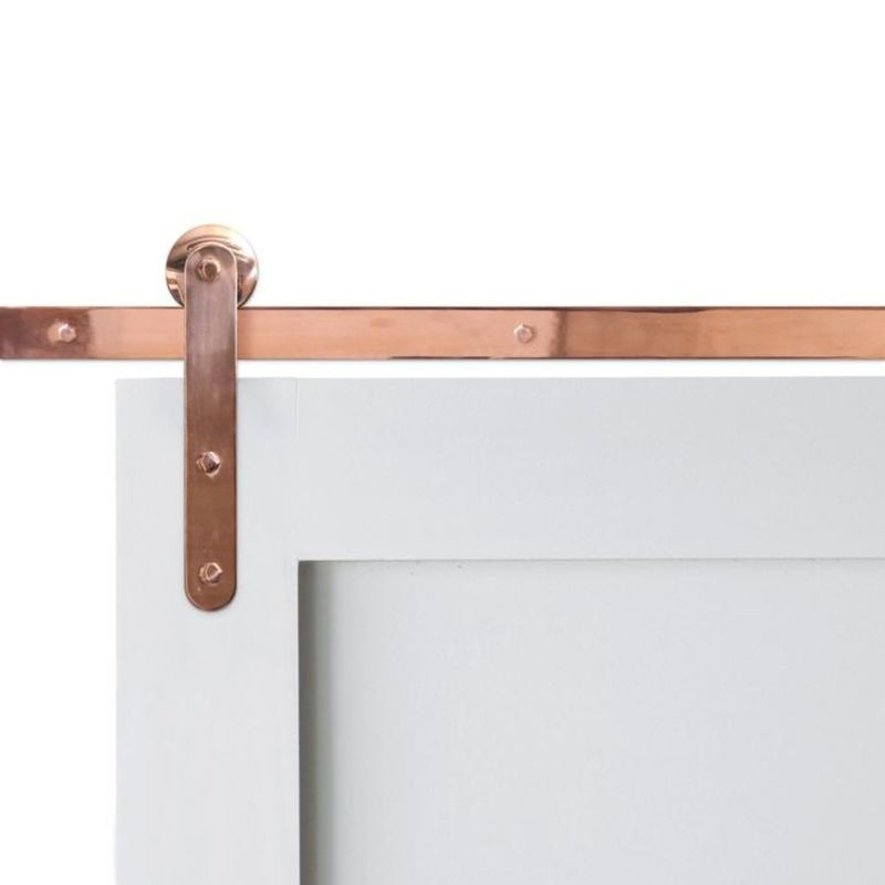 Pinnacle Copper Barn Door Hardware