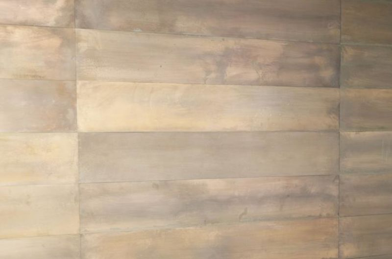 Industrial Metal Wall Panels Copper Patina