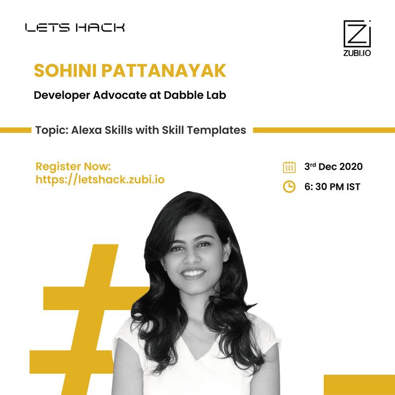 Alexa Skills with Skills Templates - Sohini Pattnayak