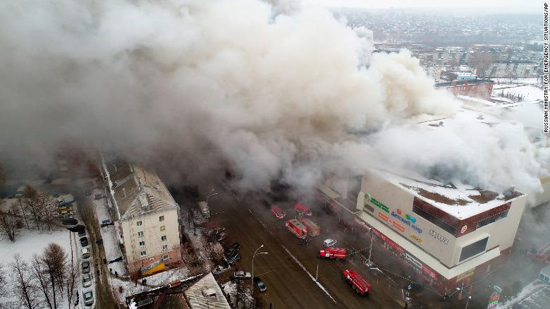 Russian Mall Burnt on March 27, 2018