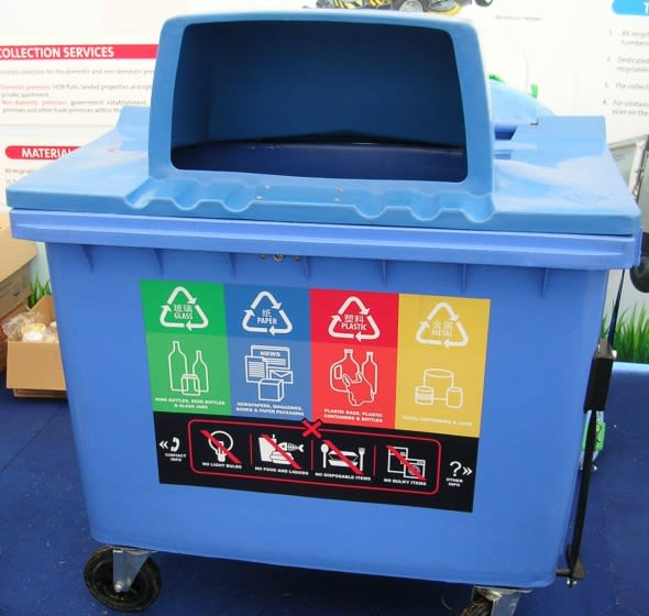 recycling dustbin image