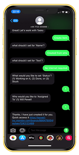 iPhone SMS Chat