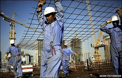 Blue collar workers in Dubai